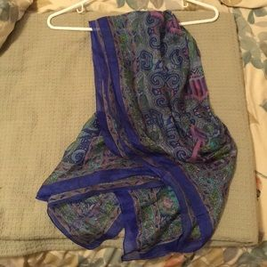 Accessories - Funky blue patterned scarf